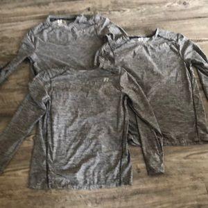 Russell long sleeve shirt gray-3 shirts